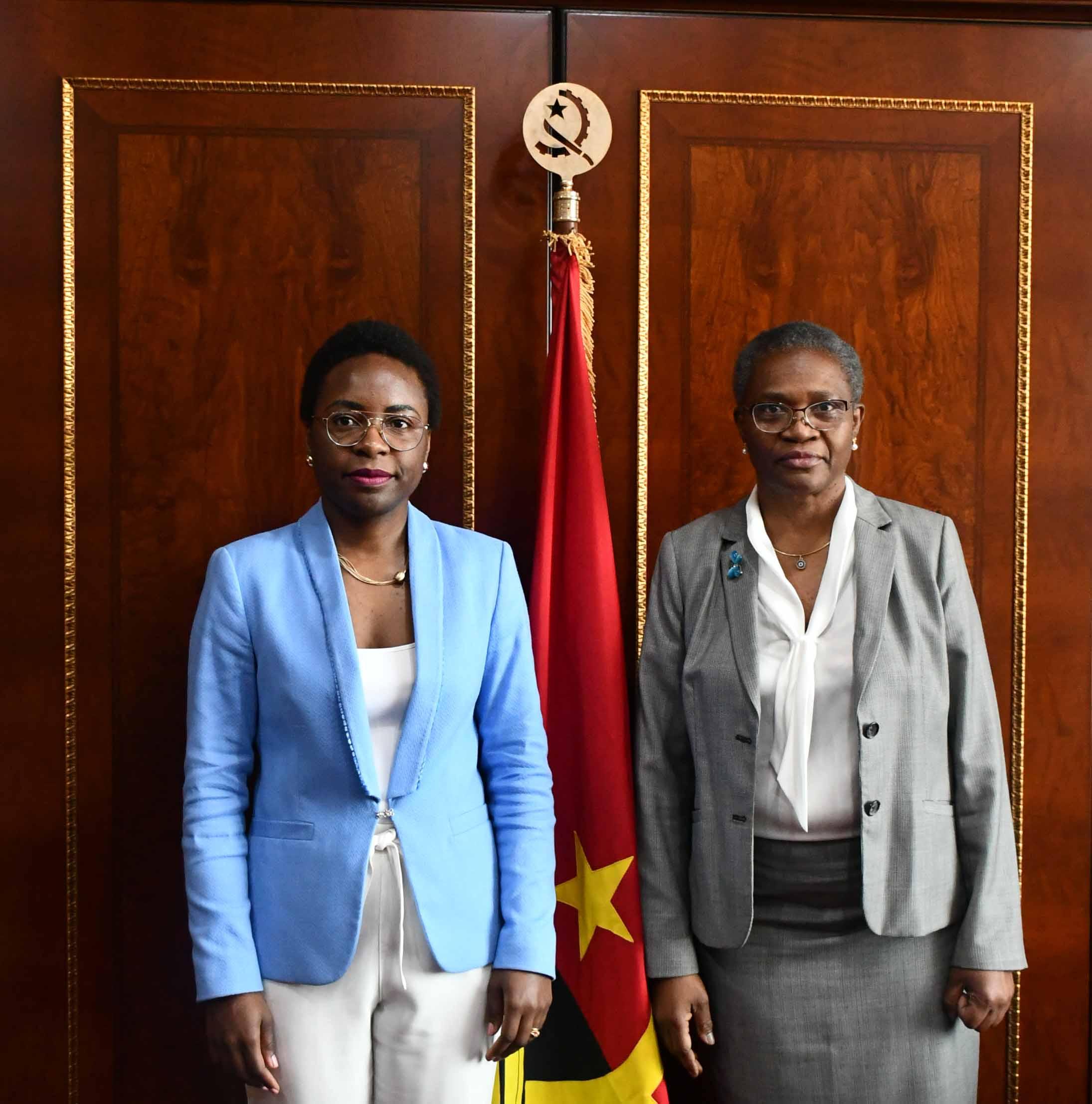 Juíza Presidente do Tribunal de Contas recebe em audiência a nova Ministra das Finanças